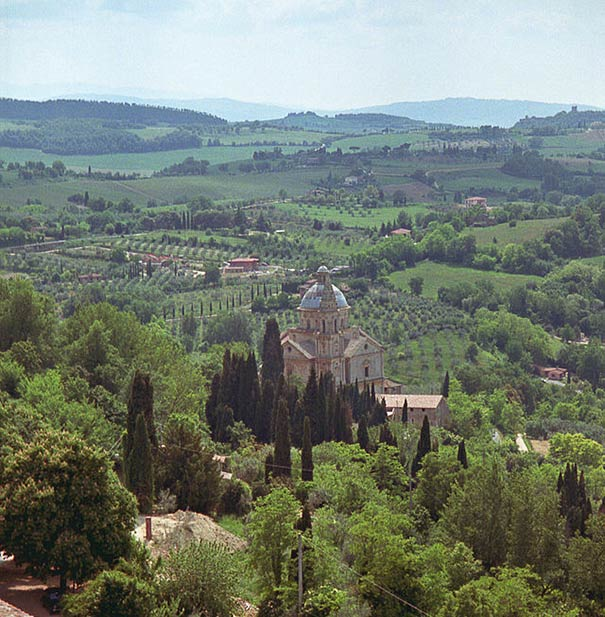Val di Chiana - Ausblick von Montepulcianio