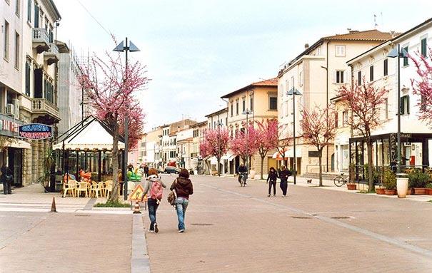 Die Promenade in Cecina