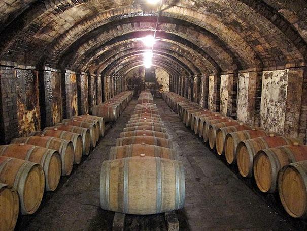 Weinkeller von Castello di Sonnino