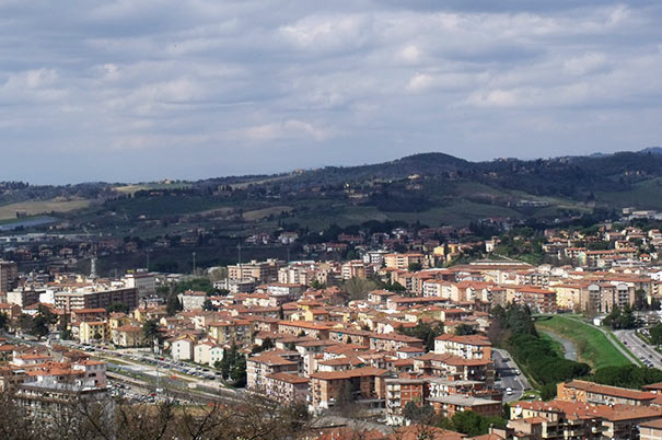 Panoramablick über Poggibonsi