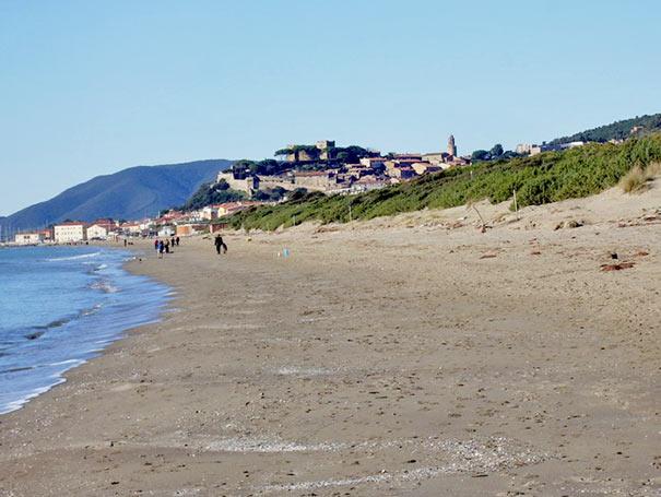 Castiglione della Pescaia vom Osten aus gesehen