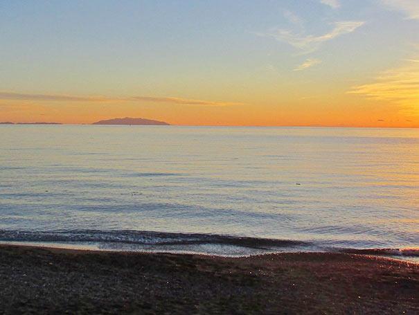 Sonnenuntergang am Strand von Marina di Cecina