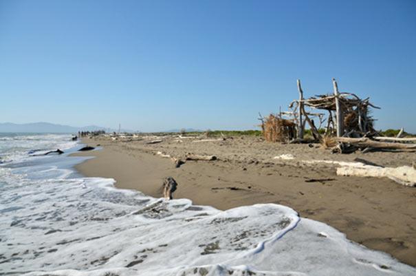 Hütte am Strand bei Marina di Grosseto
