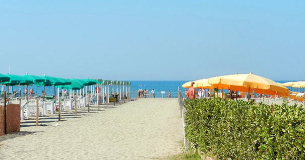 Meerblick am Strand in Marina di Pietrasanta