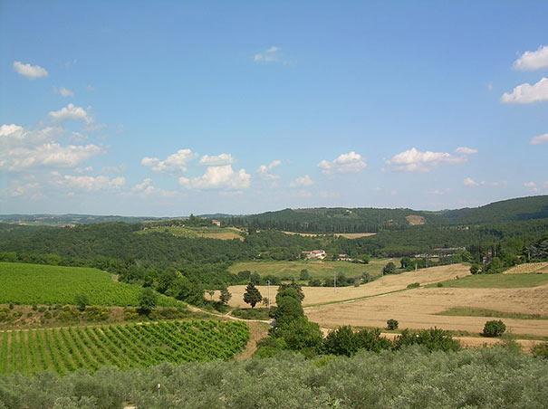 Panorama von Montagnola Senese