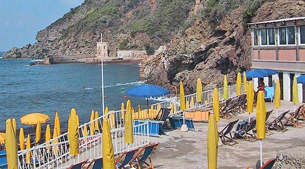 Strand in Quercianella nahe Livorno