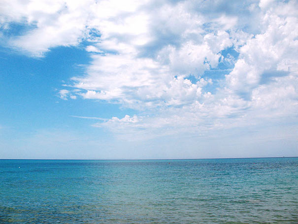 Meerblick am Strand von Cecina Mare