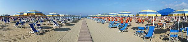 Strand Bagno Roma in Viareggio
