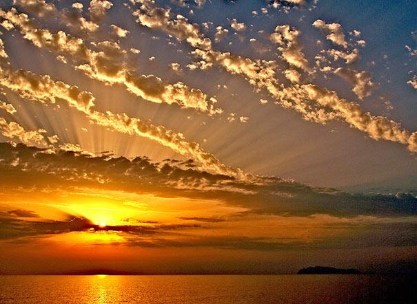 Sonnenuntergang auf Gorgona