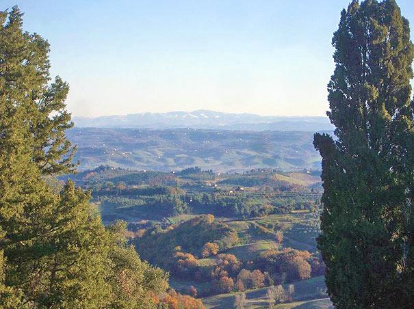 Panorama des Val d'Elsa, Toskana