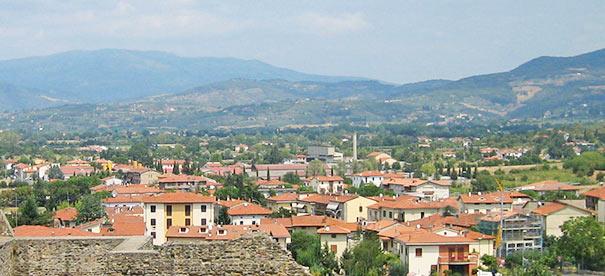 Panorama von Arezzo