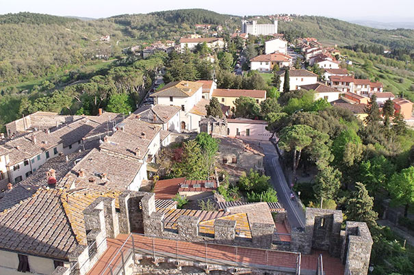 Blick auf Castellina in Chianti