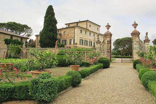 Garten der Villa di Geggiano in Castelnuovo Berardenga