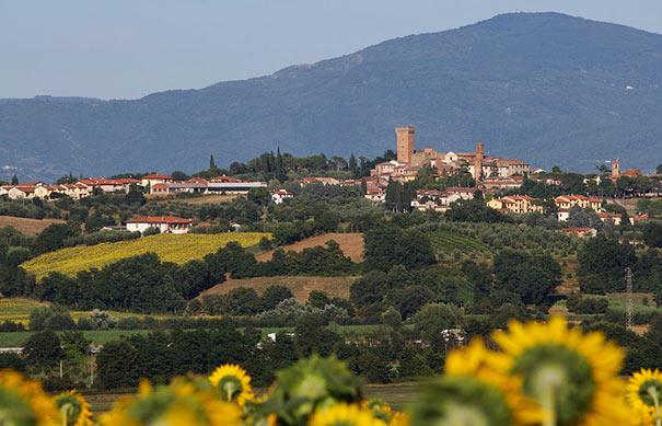 Panoramablick über Marciano della Chiana