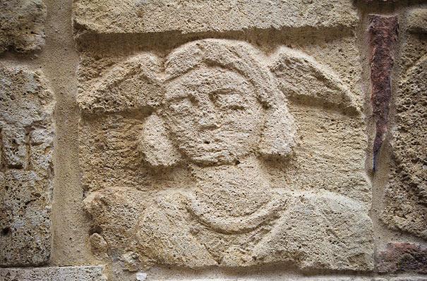 Detail am Palazzo Bucelli