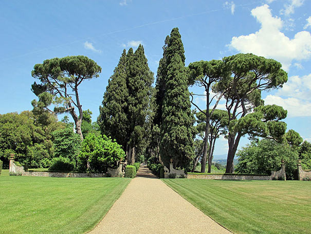 Garten der Villa le Corti