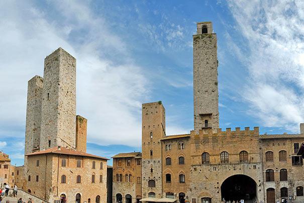 Ansicht in San Gimignano