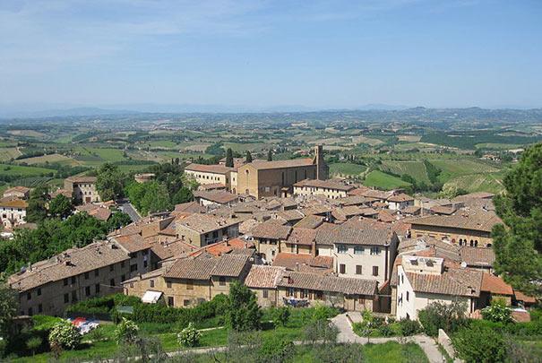 Stadtansicht von San Gimignano