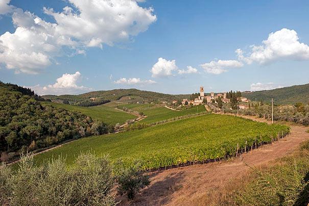 Landschaft um Tavarnelle Val di Pesa
