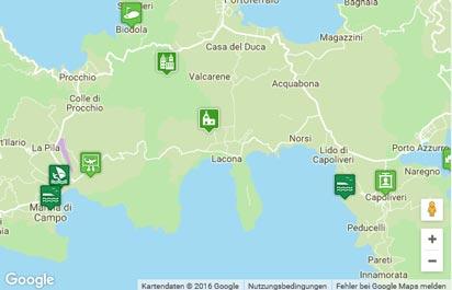 Insel Elba Karte
