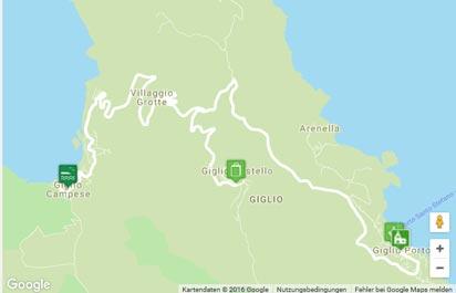 Insel Giglio Karte