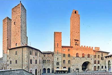 San Gimignano mit den Geschlechtertürmen