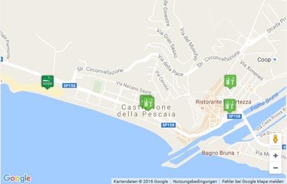 Toskana Strand Karte.Strand Von Castiglione Della Pescaia Karte Landkarte