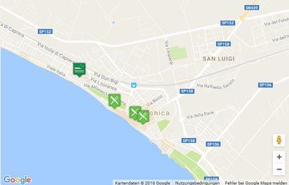 Karte des Strandes von Follonica