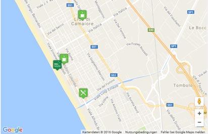 Karte des Strandes von Lido di Camaiore
