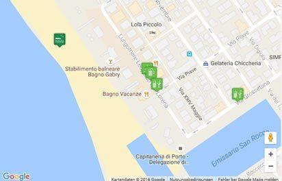 Karte des Strandes von Marina di Grosseto