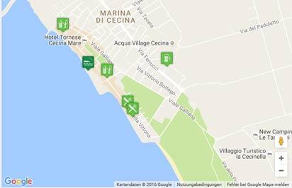 Toskana Strand Karte.Strand Von Marina Di Cecina Karte Landkarte Routenplaner