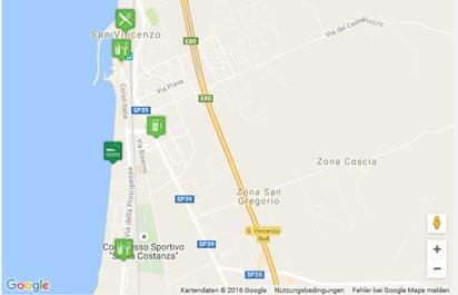 Toskana Strand Karte.Strand Von San Vincenzo Karte Landkarte Routenplaner