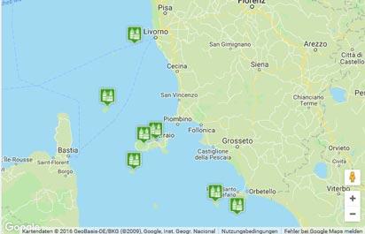 Toskanischer Archipel Karte
