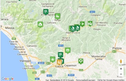 Karte Toskana Küste.Strände Bei Quercianella Nahe Livorno Karte Landkarte Routenplaner
