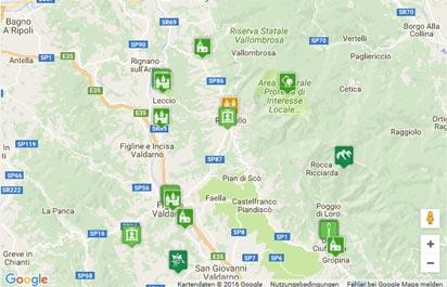 Valdarno – Arnotal Karte