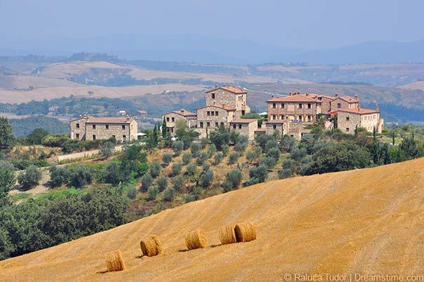 Hügelige Landschaft bei Asciano