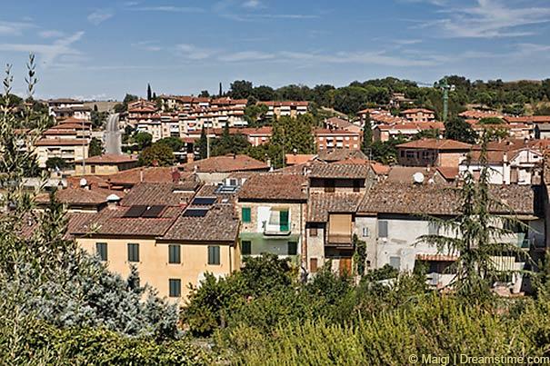 Stadtansicht von Asciano
