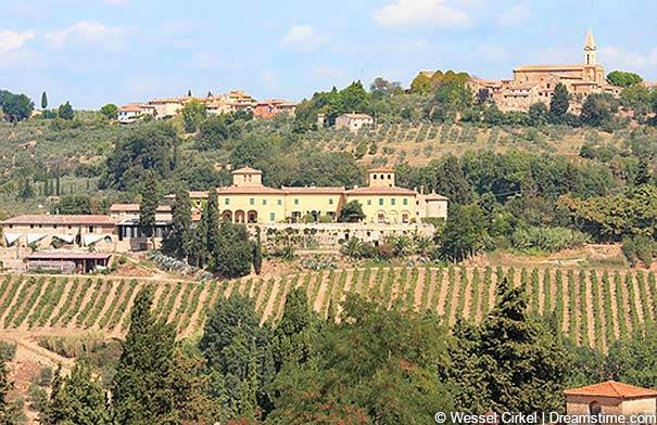 Urlaub in den Weinbergen in Barberino Val d'Elsa