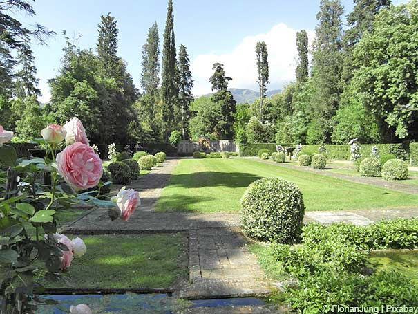 Garten der Villa Oliva