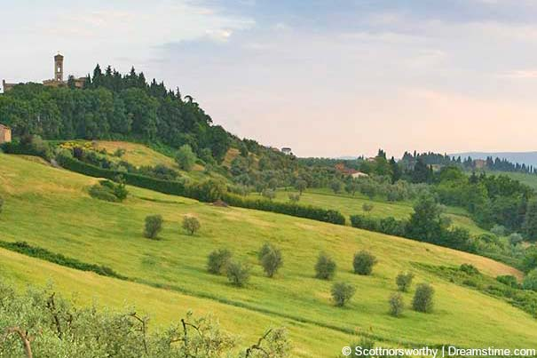 Landschaft bei Tavarnelle Val di Pesa