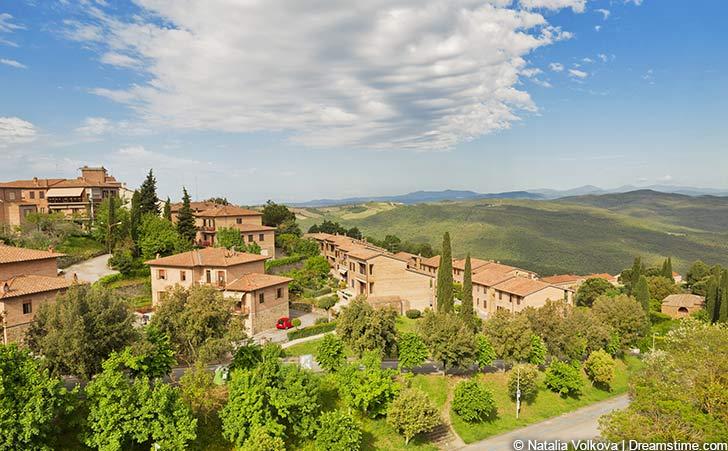 Ferienhäuser und Ferienwohnungen im Val d'Orcia