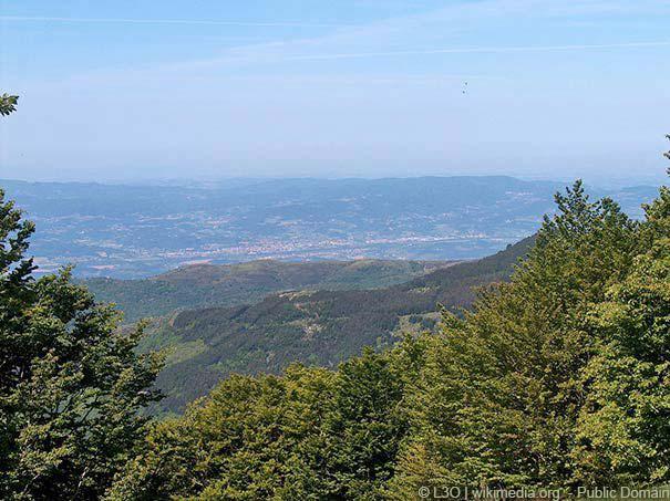 Panoramablick über das Valdarno