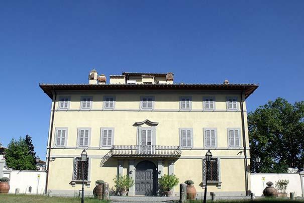 Die Villa Arceno in Castelnuovo Beradenga