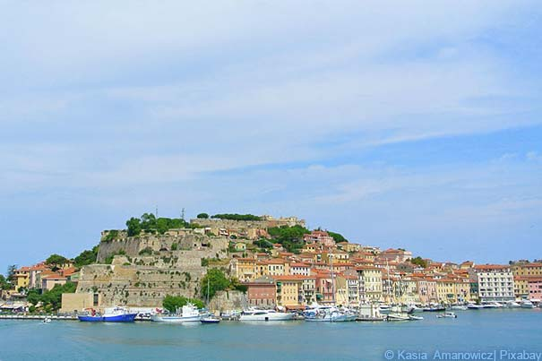 Die Hauptstadt der Insel Elba Portoferraio