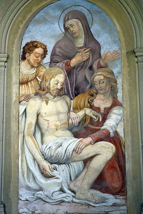 die Freske La Pietà von Agnolo Bronzino