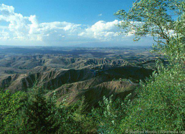 """Durch Erosion geprägte Landschaft """"Le Balze"""" bei Volterra in der Toskana"""