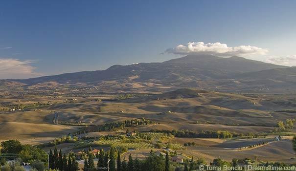 Die Landschaft rund um den Monte Amiata