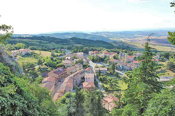 Panoramablick von Campiglia d'Orcia
