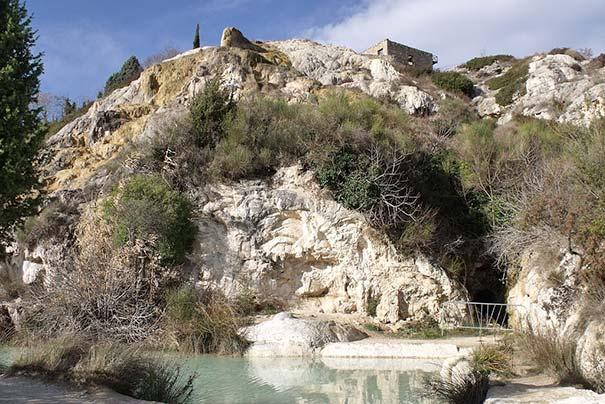 Die Grotten in Bagno Vignoni
