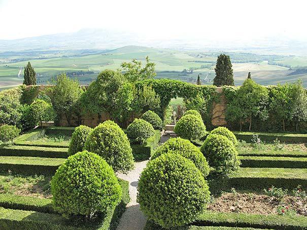 Der Garten vom Palazzo Piccolomini